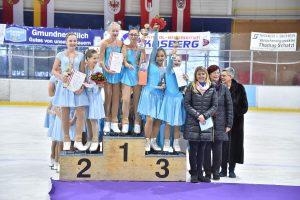 Siegerehrung Schülermeisterschaften Synchron Eiskunstlauf